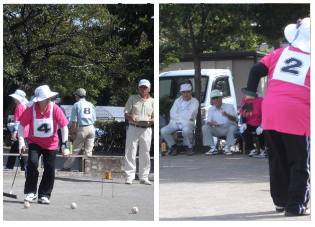 P15左上 通信員(三室支店)ゲートボール大会(トリミング例)