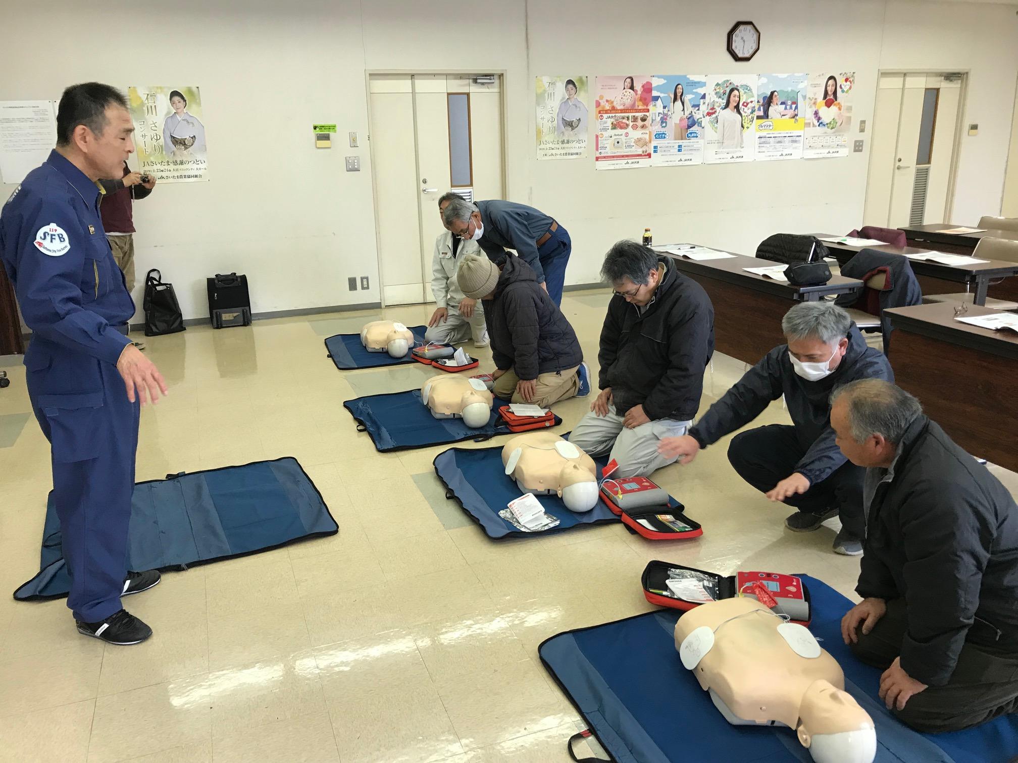 P15左上 通信員(馬宮)AED講習会