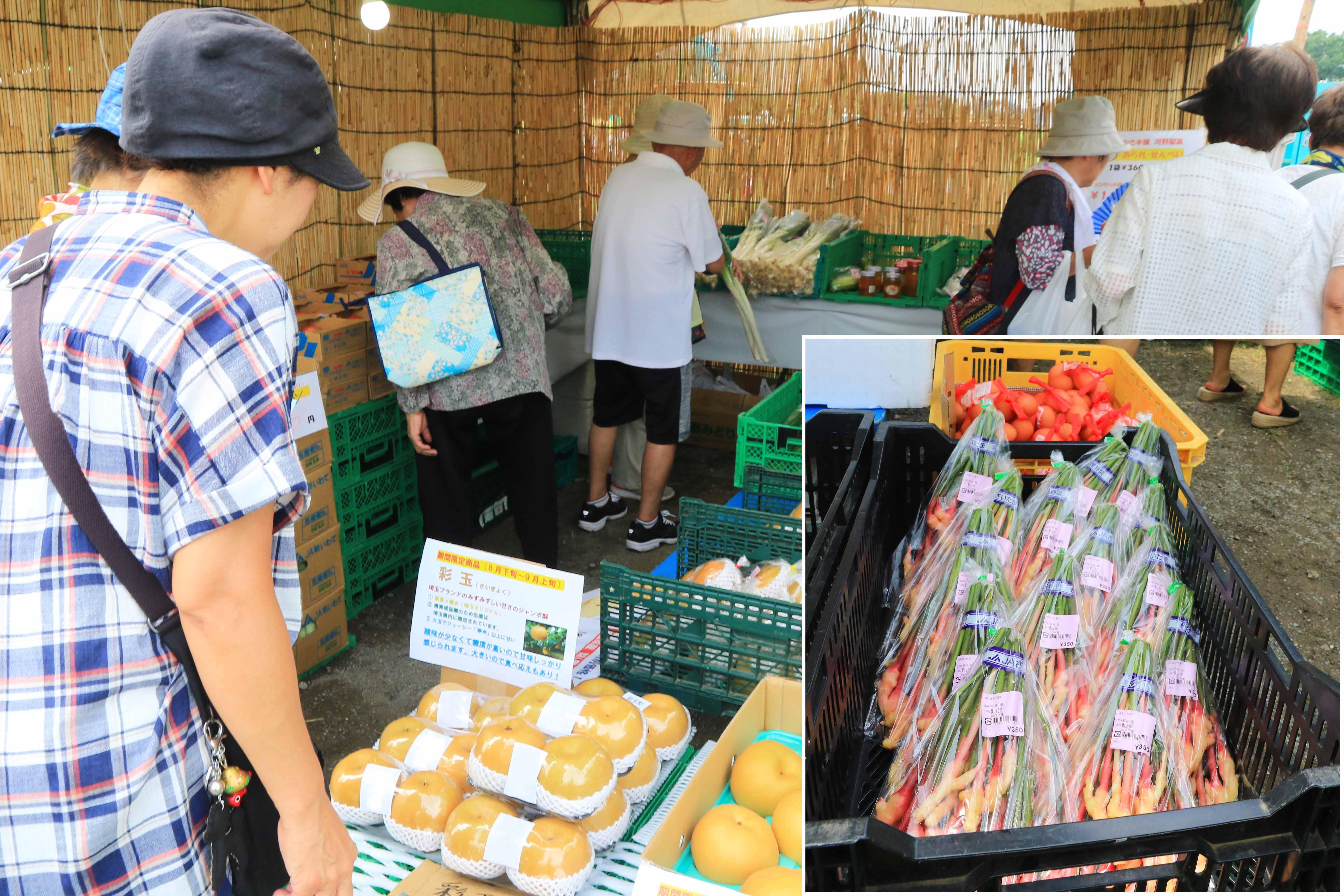 新鮮農産物を販売(安行農産物直売所:川口市)