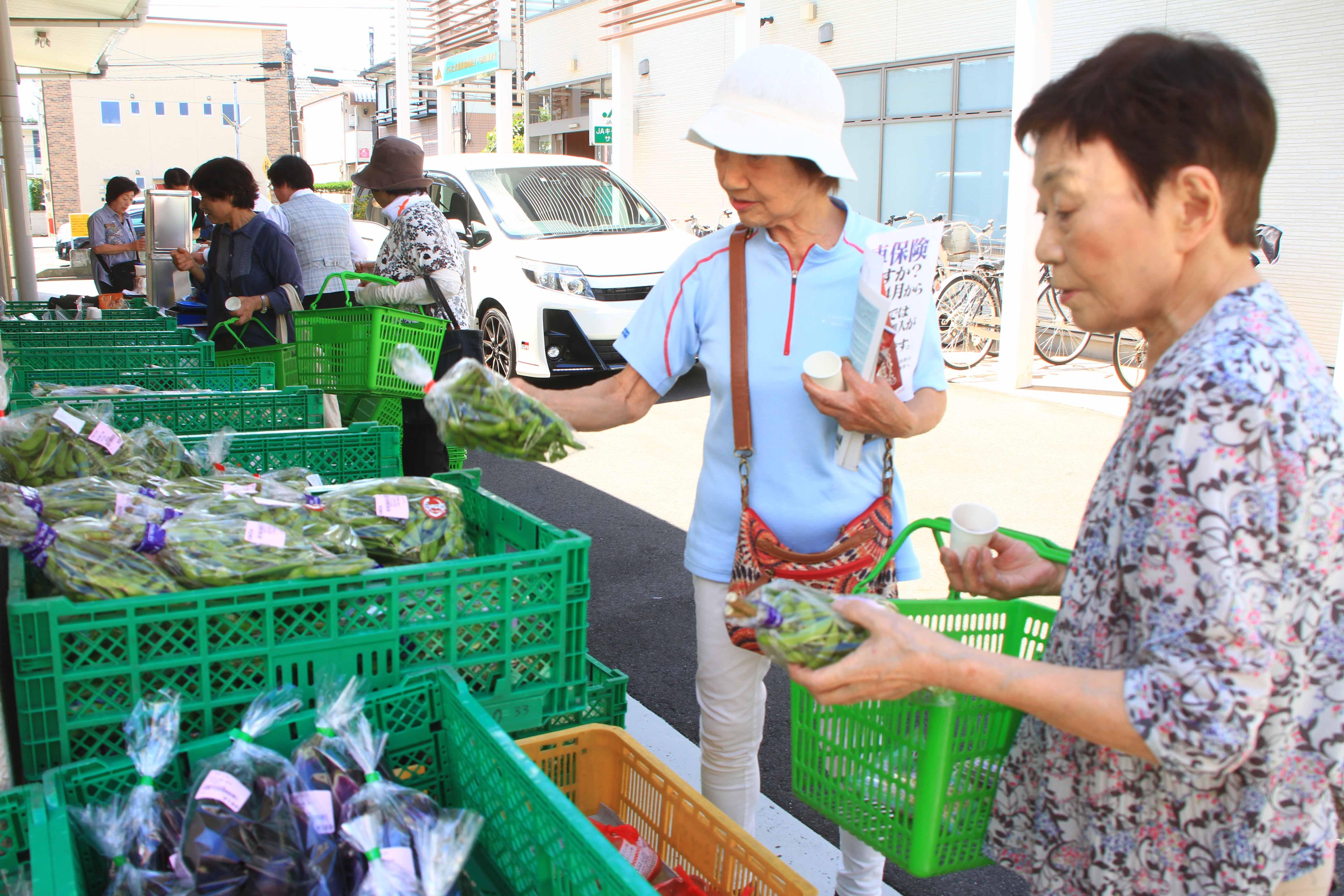 毎月第1月曜日に農産物販売(戸田公園支店:戸田市)
